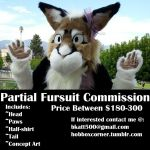 Fursuit Partial Commission by bkatt500