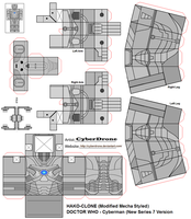 Hako Clone- Cyberman 'Series 7ver) by CyberDrone