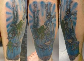 abalone diver tattoo by hoviemon
