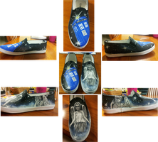Dr Who Birthday Shoes by milk-n-bikkies