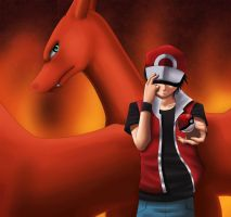 Pokemon: Trainer Red by Quitoxica