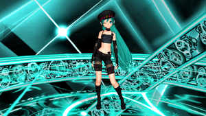 Miku disappearance by Alelokk
