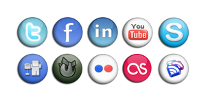 Social Networking buttons by sneakymonkey04