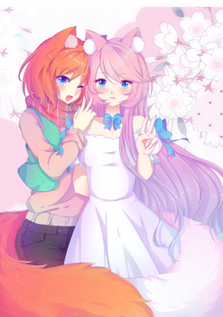 Collab with Yubuki by BluAjisai