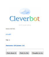 Really Cleverbot? by lena56