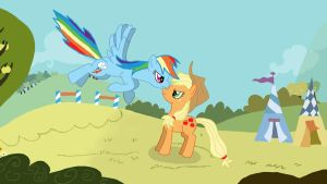 Apple Jack and Rainbow Dash by JohnnyDeppsGirl4life