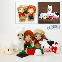 Harvest Moon Amigurumi Set of 9 - Crochet Dolls by CyanRoseCreations