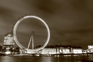 London Eye Sepia by FloWithTheMojo