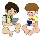 Gaming Bros by Natsu-cat (Commission) by Toddler-Naruto