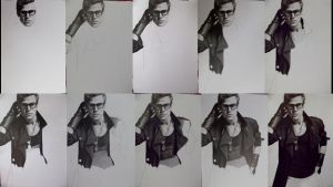 Paul Wesley in progress by TanyaMusatenko