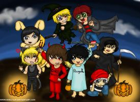 Chibi Death Note Halloween by Meeltjuh