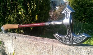 Skyrim Steel axe, larp safe by DragonArmoury