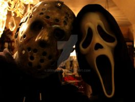 Jason Voorhees N Ghost face by DeeMelino
