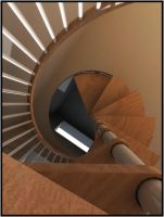 Spiral staircase by Cubiclegangster