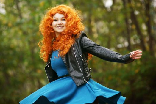 Modern Merida - I'll be shooting for my own hand by straychild77