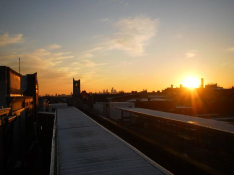 Sunset Over The El by citynetter