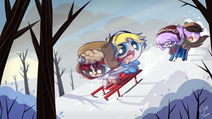 Sleigh away by ITBluebeadTI