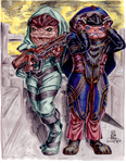 Krogan Warladies by AmethystSadachbia