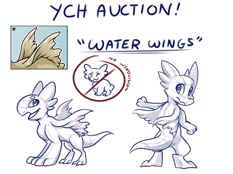 YCH Auction - Water Wings by Nestly