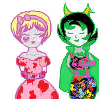 Rose and Kanaya Halloween by Me0wNerdySweetsMe0w