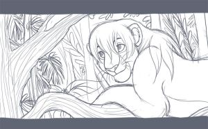 Rainforest WIP by kohu-scribbles