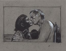 Taylor kisses Zira, Planet Of The Apes by JeffLafferty