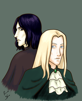 Severus and Lucius by Rowan-kun