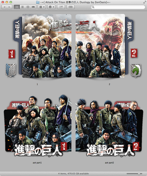 Attack On Titan Duology sequential folder icon by zenoasis
