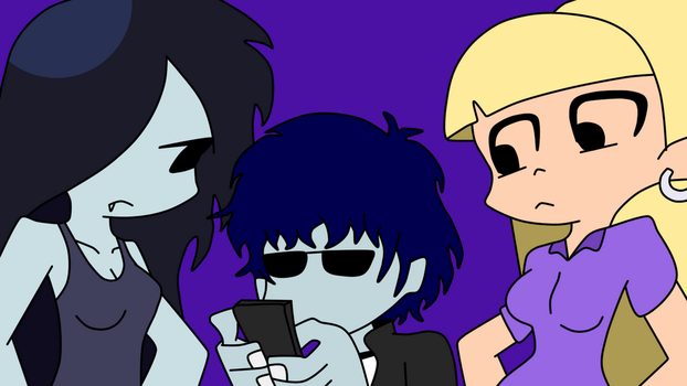 Phil, Marceline and Pacifica by PhilElMago