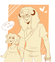 Simba and Kiara by NerdyJones