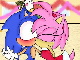 sonamy mistletoe by Shadow-Morcom-10