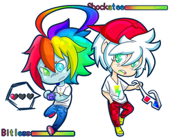 Bitless and Shockatee Cheebs by NIPPONkidd