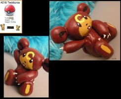 Teddiursa Sculpy by lcpatchworkheart