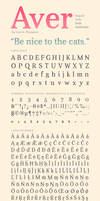 Aver Font by nymphont
