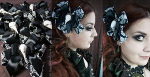 Gothic Skull Fascinator Brooch by MADmoiselleMeli