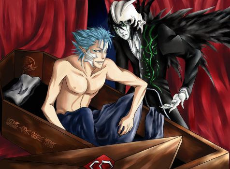 Ulquiorra and Grimmjow by E-Xine
