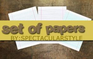 set of papers by spectacularstyle