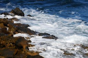 White Water On The Rocks by LDFranklin