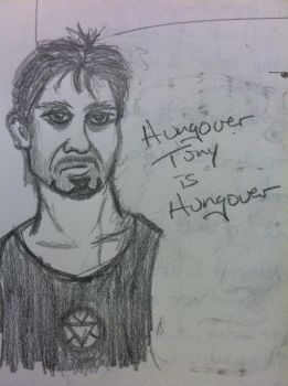 Misadventures of Tony Stark: Hungover by Gretchdragon