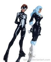 Marvel Legends - Spider-Girl and Black Cat by 0PT1C5