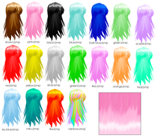 MMD-Custom Hair Textures DL by Shioku-990
