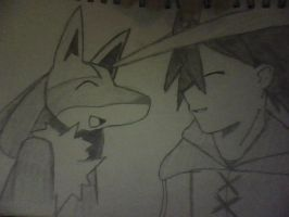 lucario and ash by Nintendo-Lover-Kat