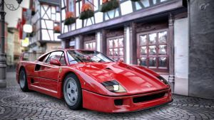 Ferrari F40 '92 by LS-Coloringlife