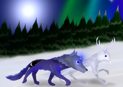 The Guardian of The Night and The Shooting Star by Moonlight4504