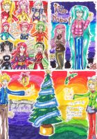 Poster:Vocaloids ChristmasCard by Anaisabel22