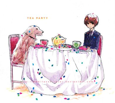 colorful confetti tea party by demitasse-lover
