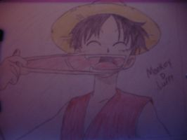 Monkey D Luffy cheek pull by Magic-Yaoi-Mushroom