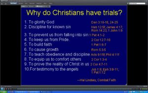 Why Christians have trials by BigMac1212