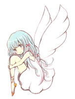 Anime Angel Girl Render by Feary-Bad-Day