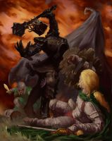 Eowyn and The Nazgul by Rilez75